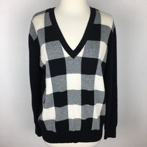 Autumn Cashmere Buffalo Check Sweater XS